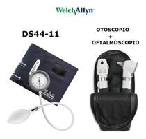 Kit Welch Allyn Otoscopio E Oftalmoscopio Pocket Plus Branco + Esfigmomanometro Durashock Ds44 -
