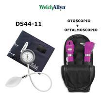 Kit Welch Allyn Otoscopio E Oftalmoscopio Pocket Plus Violeta + Esfigmomanometro Durashock Ds44 -