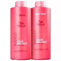 Kit Wella Invigo Color Brilliance Shampoo 1000ml + Condicionador 1000ml -