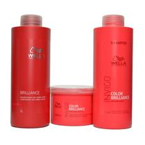 Kit wella invigo  color brilliance shampoo 1l mascara 500ml cond brilliance 1l