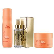 Kit Wella Invigo Nutri Enrich Shampoo 250ml + Máscara 150ml + Óleo Oil Reflections Luminous 100ml -