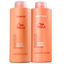 Kit Wella Invigo Nutri Enrich Shampoo e Condicionador 1000ml -