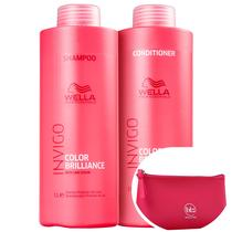 Kit Wella Professionals Invigo Color Brilliance Salon Duo (2 Produtos)+Nécessaire Beleza na Web Pink -