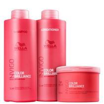 Kit Wella Professionals Invigo Color Brilliance Trio Shampoo Condicionador e Máscara (3 Produtos Grandes) -