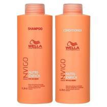 Kit Wella Professionals Invigo Nutri-Enrich Shampoo 1000ml + Condicionador 1000ml (2 Produtos) -