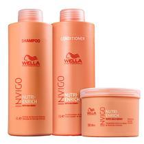 Kit Wella Professionals Invigo Nutri-Enrich Tamanho Salão (Shampoo, Condicionador e Máscara) -