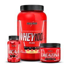 Kit whey 100% + creatina 150g + bcaa 90 caps - Integralmédica