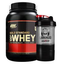 Kit Whey 100 Gold Standard 2lbs (900g) - Optimum Nutrition + Coqueteleira