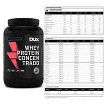 Kit Whey Concentrado Dux 900g Baunilha + Bcaa 60 Caps - K-fit