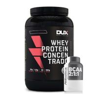 Kit Whey Concentrado Dux 900g Cookies + Bcaa 60 Caps - K-fit