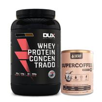 Kit Whey Concentrado Dux 900g Cookies + Supercoffee 250g - K-fit