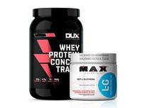 Kit Whey Concentrado Dux 900g Morango + L-Glutamina 300g - K-fit