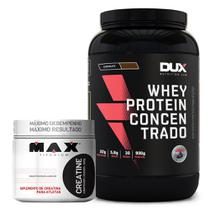 Kit Whey Concentrado Dux + Creatina 300g Max Titanium - Dux nutrition
