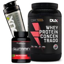 Kit Whey Concentrado + Glutamina 300g - Dux Nutrition Oferta