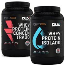 Kit Whey Concentrado + Whey Isolado Dux Nutrition