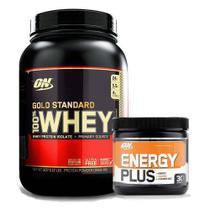 Kit Whey Gold Standard 900g Baunilha + Energy Plus 150g - Geral