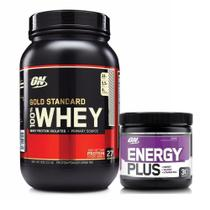 Kit Whey Gold Standard 900g Baunilha + Energy Plus - Optimum nutrition