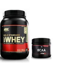 Kit whey gold standard 900g + bcaa 300g - optimum nutrition -