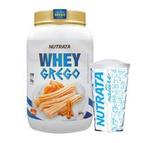 Kit Whey Grego 900g Churros + Copo - Nutrata