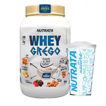Kit Whey Grego 900g Natural + Copo - Nutrata