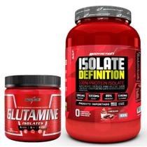 KIT WHEY ISOLATE DEFINITION 900g + GLUTAMINA 300G - BODY ACTION / INTEGRAL MEDICA