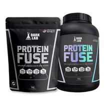 KIT Whey Protein Fuse 900g + Whey Protein Fuse 900g Refil Dark Lab -