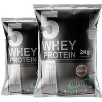 Kit whey protein isolado concentrado hidrolisado 3w 4kg Infinity - Chocolate -
