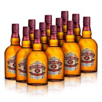 Kit Whisky Chivas Regal 12 anos 1L - 12 Unidades -
