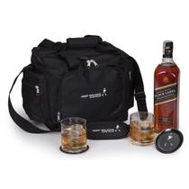 Kit Whisky Escocês Johnnie Walker Black Label litro + 2 copos 2 porta copos e bolsa - Shop quality