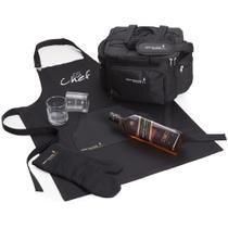 Kit Whisky Johnnie Walker Black Label litro + 2 copos + avental + Luva e bolsa - Shop quality