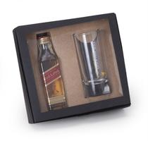 Kit Whisky Johnnie Walker Red Label 50ml + copo 75ml - Shop quality