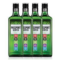Kit Whisky Passport Scotch 1L - 4 Unidades -