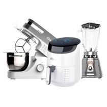 Kit White Fritadeira Digital - Batedeira Planetária - Liquidificador Osterizer -