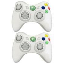 Kit X-Pillow Box 360: Almofada Gamer Inspiradas no Controle de Video Game Xbox 360 Branco - Camaleão preto