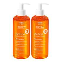 Kit x2 Darrow Actine Sabonete Líquido Antioleosidade Antiacne 400ml -