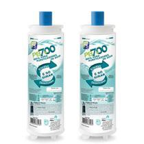 Kit X2 Refil Filtro Purificador Água Masterfrio Rótulo Azul Bico 22,5mm Policarbon PB700 -