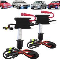Kit Xenon H3 8000k Farol Milha Gol Quadrado G1 Bola G2 G3 G4 - Techone