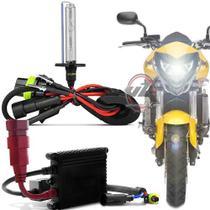 Kit Xenon Moto Slim Hid Digital Xenon Branco Ou Azulado HB3 8000K - Ray x