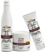 Kit Yellow Nutritive Shampoo 500ml+Mascara 500ml+Leave-in Conditioner 250ml - Yellow alfaparf