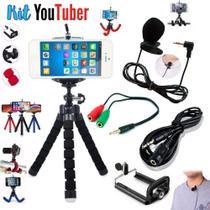 Kit Youtuber 8 Mini Tripe para Smartphone  Microfone Lapela - Ukimix