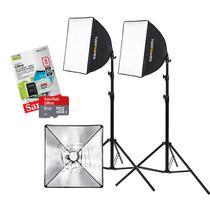 Kit Youtuber Iluminação Soft Cartão 8GB Inscritos 110 - Tudoprafoto