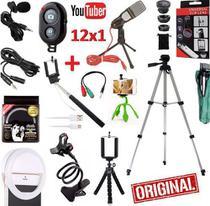 Kit Youtuber Profissional Lapela Microfone Mesa Tripé 1,30m - Riosul Store