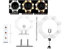 Kit youtuber ring light profissional led luz tik tok com mini torre 3 bocais camarim mesa maquiagem - Casa Do Ring Light
