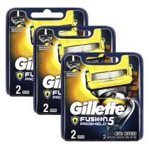 Kits com 6 Cargas Gillette Aparelho de Barbear Fusion Proshield -