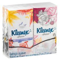 Kleenex LenÇO De Papel P/ Bolso Misto 4x10 Folhas -
