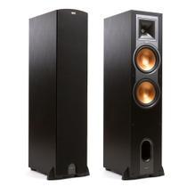 """Klipsch Reference R-28F - Par de caixas acústicas Torre Dual Woofer 8"""" 600W Preto -"""