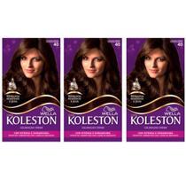 Koleston Tinta 40 Castanho Médio (Kit C/03) -