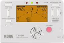 Korg TM-60 Metrônomo Afinador Digital Compacto Branco -