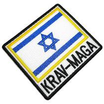 Krav-Maga Bandeira de Israel Patch Bordado Para Kimono Calça - Br44