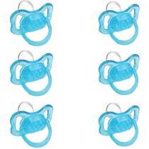 Kuka 2016 Chupeta Cristal Nº1 Color Orto Azul (Kit C/06) -